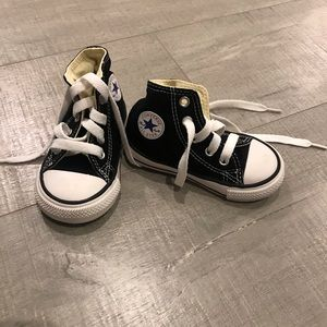 Converse High Tops Black Toddler size 5